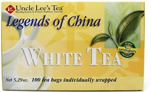 Legends of China White Tea by Uncle Lee's Tea, 100 tea bags Regular