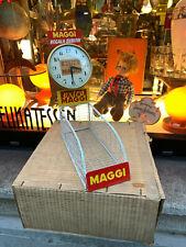 MAGGI vecchio espositore OROLOGIO vintage negozio