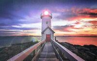 Led Bild Leuchtturm 42*27cm Leuchtbild Canvas Sonnenuntergang Wanddeko Wandbild