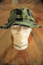 US ARMY TIGER STRIPE VIETNAM BDU RIPSTOP CAMO UNIFORM FLOPPY HAT BOONIE CAP 7.25