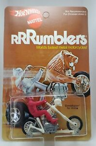 Vintage Hotwheels RRRUMBLERS BONESHAKER (pink tops rider) MOC