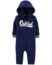 OshKosh BGosh Logo Hooded Coveralls in Navy