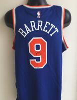 RJ Barrett New York Knicks Autographed Signed Nike Swingman Jersey Fanatics COA
