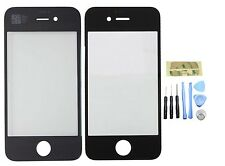 GENUINE GLASS REPLACEMENT FOR BLACK iPHONE 4/4S FRONT OUTER SCREEN LENS & TOOLS