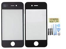 Véritable verre de remplacement pour NOIR iPhone 4 / 4s écran avant latérales Lentille & outils