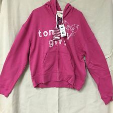 XL Tommy Girl by Tommy Hilfiger Pink Hoodie Sweatshirt Junior X-Large Free Ship