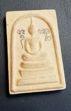 SOMDEJ BUDDHIST AMULET FROM THAILAND WITH HOLY YANT INSCRIPTIONS