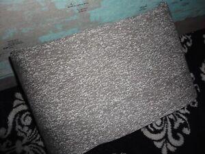 KEECO RAIN HEATHERED GRAY & WHITE (1) QUEEN FLAT SHEET 89 X 102