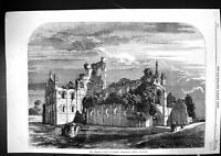 Old 1858 Queen Visit Leeds Exterior Kirkstall Abbey Architecture Engl Victorian