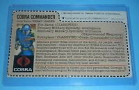 1982 GI Joe Cobra Commander Straight Arm v1 Mickey Mouse Mail In Uncut File Card