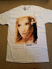 Celine Dion 1998 Let's Talk About Love World Tour Vtg White T Shirt SzM Nwot