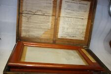 1900 Edison No 62 Diaphragm Mimeographs Box With Broad, Bottles, Ink, & Roller