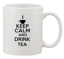 Keep Calm And Drink Tea Hot Cup Healthy Funny Novelty Ceramic White Coffee Mug