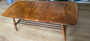 Ercol Windsor Solid Elm And Beech Coffee Table Good Solid Condition