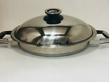 Zepter 231150 18/10 Stainless Oval Casserole Pan Pot  w/ THERMOCONTROL Lid Great