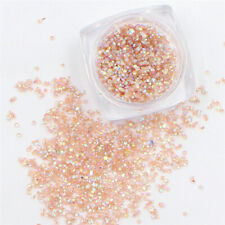Crystal S Nail Art Decorations Nai 1000Pcs Micro Champagne Rhinestones For Nails