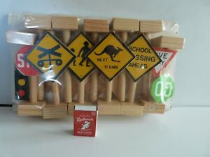 Toy Wooden Road Signs. New
