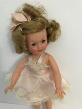 """Vintage Shirley Temple Doll Ideal Pink Dress Needs Pin & Socks Shoes 12"""""""