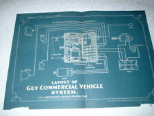 GUY COMMERCIAL SYSTEM WIRING LAYOUT DIAGRAM. 1929