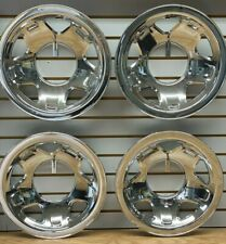 "1993-1997 Ford RANGER EXPLORER 15"" Steel Wheel CHROME Skins Hubcaps Covers SET"