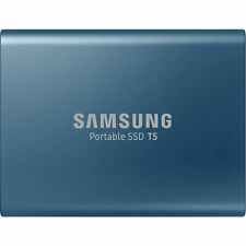Samsung T5 USB-C/A 250GB Portable Solid State Drive External SSD 540MB/s Blue