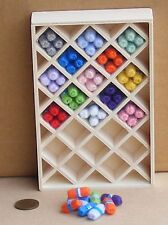 1:12 Scale Wooden Display Wool Shop Display Dolls House Miniature Accessory