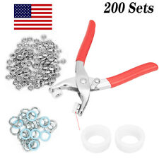 200pcs Snap Button Push Buttons Sewing Free with Five-claw Buckle Tongs Tool Kit