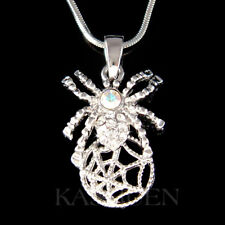 Black Widow ~Spider Cobweb~ made with Swarovski Crystal Halloween Toxic Necklace