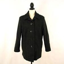 CHARLES KLEIN women's sz 10 coat - NEW black 100% wool dressy career petite