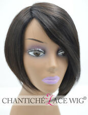 Real Human Hair None Lace Wig Straight Indian Remy Hair Cheap None Lace Wig 7A