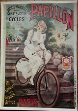 Affiche Cycles Papillon bicyclette vélo