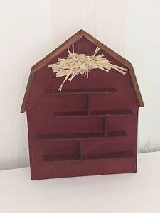 "Vtg Wood Hanging Wall Shelf Displays Knick Knack Miniatures shelf 8 x 6"""