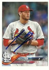 2018 TOPPS #134 LANCE LYNN YANKEES CARDINALS AUTOGRAPHED SIGNED BASEBALL CARD