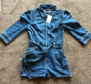 Bnwt Urban Outfitters BDG Sienna Denim Romper Playsuit - S or M RRP £59