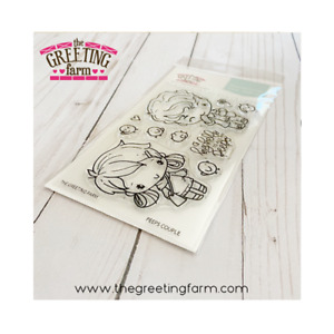 PEEPS COUPLE-The Greeting Farm Clear Photopolymer Stamp-Stamping Craft-Anya &Ian