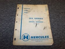 Hercules DIXD DIXB DIX Series 2 Cylinder Diesel Engine Parts Catalog Manual