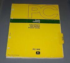 John Deere 303 Series Power Unit Parts Catalog Manual Pc - 956 Used B3