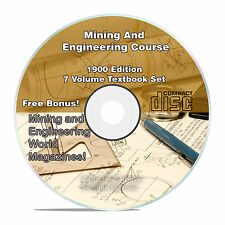 Mining & Engineering Textbook Course, Learn How To Mine Gold, 7 Volume CD V32