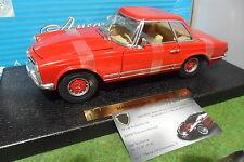 MERCEDES BENZ 280 SL rouge à l'échelle 1/18 ANSON 30380 voiture miniature