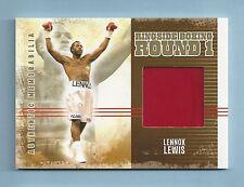LENNOX LEWIS 2010 RINGSIDE BOXING GOLD FIGHT WORN JACKET /10