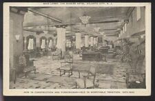 Postcard Atlantic City New Jersey/Nj New Seaside Hotel Lobby view 1920's