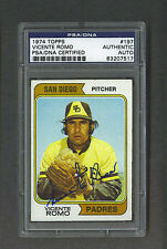 Vicente Romo signed San Diego Padres 1974 Topps baseball card Psa