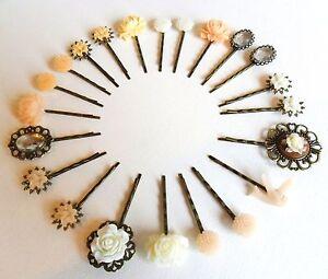 Hair Pins Grips Clips Slides Bridesmaid Accessories Bobby Flower Girl Rhinestone