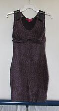 Betsey Johnson Purple Leopard Print Sleeveless Dress Women's Sz S