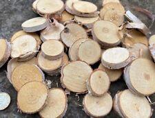 2-5cm Round Wood log Slices Discs DIY Craft For Party Wedding Kids Birch