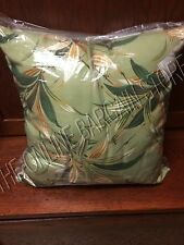 "Pottery Barn Spring Bamboo Leaves Leaf Outdoor Yard Patio Throw Pillow 20"" Green"