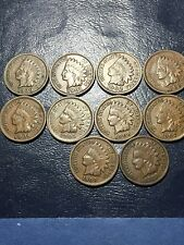 1900-1909 P  Indian Head Cents. Date Run. Nice Coins. Pics
