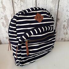 Madden Girl Women's Backpack Rucksack Black & White Stripes