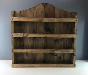 Handmade Rustic Spice Rack, Kitchen Storage, Kitchen Accessories, Farmhouse Dark