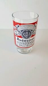Vintage Anheuser-Busch Budweiser Large 32 Oz. Footed Lager Beer Glass Cup